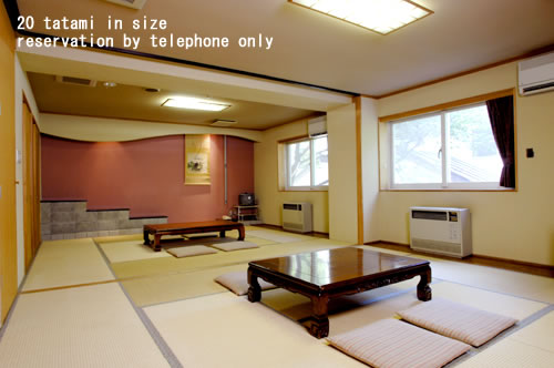 20 tatami in size reservation by telephone only